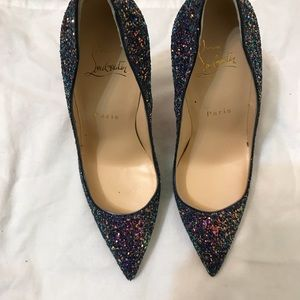 5dda06d79333 Christian Louboutin Shoes - Christian Louboutin So Kate Glitter China Blue